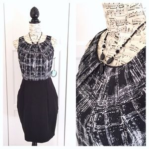 Eva Franco Pamela Dress Black & White